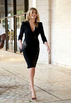 Shop this look on Lookastic: http://lookastic.com/women/looks/black-sheath-dress-black-leather-clutch-burgundy-leather-pumps/10677 — Black Sheath Dress — Black Leather Clutch — Burgundy Leather Pumps