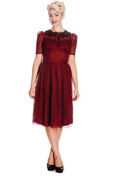Hell Bunny Kleid CYNTHIA DRESS Rot XL