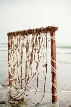 beach ceremony backdrop