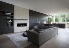 Stylish Home in Neutral Colours Designed by Kariouk Associates in Ontario, Canada