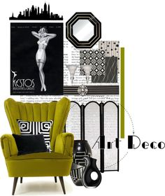 """Art Deco Collection"" by she-kills-monsters on Polyvore"