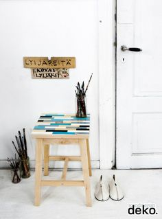 DIY: Pimp your stool with wooden blocks