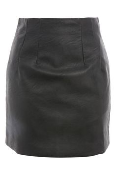 High Waisted Faux Leather Mini Pencil Skirt
