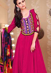 Breathtaking Pink Ankle length Anarkali Suit