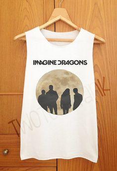 cea5ff887bf03 Imagine Dragons Moon Style Tank Top Tank Shirt by TwoToneTank