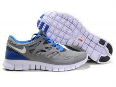 UK - Nike Free Run 2 Womens Light Gray/White/Royal Blue