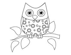 tricia rennea illustrator owl coloring page