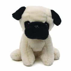 Gund Shmossy Pug Dog Stuffed Animal - http://weloveourpugs.net/?product=gund-shmossy-pug-dog-stuffed-animal