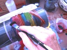 Join shibori artist Christian Ortiz as he teaches you - always in trend - Shibori Designs & Techniques. The Japanese term shibori, which means to wr. Ribbon Jewelry, Ribbon Art, Ribbon Crafts, Shibori Techniques, Textiles, Beaded Jewelry Patterns, Silk Ribbon Embroidery, How To Dye Fabric, Fabric Manipulation