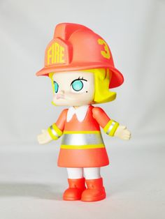 Hong Kong POP MART Kennyswork BLOCK Little Molly Career Series Firewoman Silvery — Capsule Culture – Toy Hunter