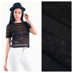 Black Mesh Crop Top... <3 Black Mesh Crop Top, Love Clothing, Crop Tops, Clothes, Women, Fashion, Outfits, Moda, Clothing