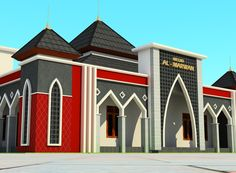 Mosque Architecture, Architecture Plan, Beautiful Mosques, Beautiful Places, House Front Design, School Building, Building Design, Around The Worlds, Backyard