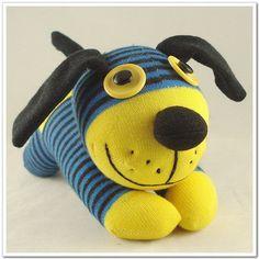 Handmade Sock Dog Stuffed Animal Doll Baby Toys. $11.99, via Etsy.