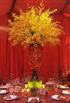 art deco centerpiece, centerpiece, preston bailey event ideas