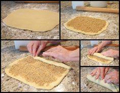 Mennonite Girls Can Cook: Roolyet (Russian Nut Roll) Slovak Recipes, Hungarian Recipes, Croatian Kifle Recipe, German Baking, Hungarian Cuisine, Peanut Butter Cheesecake, Strudel, Rolls Recipe, International Recipes