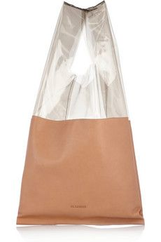 Market leather and acetate bag