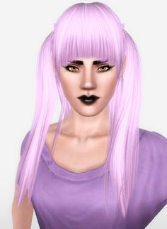 Zauma`s Ayumi hairstyle retextured by Forever and Always for Sims 3 - Sims Hairs - http://simshairs.com/zaumas-ayumi-hairstyle-retextured-by-forever-and-always/