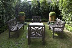 Like the green wall. Permanent Link to : Outdoor Space Design Ideas at Beautiful Garden Design