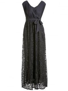 GET $50 NOW | Join RoseGal: Get YOUR $50 NOW!http://www.rosegal.com/plus-size-dresses/sexy-v-neck-black-lace-298216.html?seid=2275071rg298216