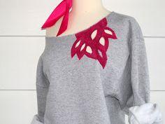Inspiration Tutorial Things you need Sweatshirt ~mine is a mens medium~ Scissors Paint Pens Pencil Paint brush . Sweatshirt Makeover, Sweatshirt Refashion, Diy Wardrobe, Diy Clothing, Refashioned Clothing, Printed Sweatshirts, Hoodies, Diy Fashion, Fashion Ideas