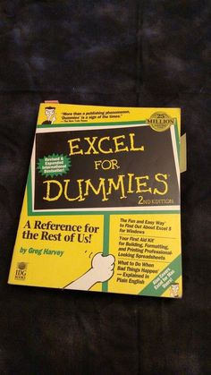 Excel for Dummies 2nd Edition Paperback Book