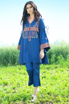 Best 12 Latest Summer Kurti Designs & Tops by Origins Spring Collection Pakistani Fashion Casual, Pakistani Dresses Casual, Pakistani Dress Design, Indian Fashion, Casual Dresses, Fashion Dresses, Indian Dresses, Stylish Dress Designs, Stylish Dresses For Girls