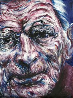 Samuel Beckett ~ ~ Oil on canvas ~ 122 x cm ~ Private collection Tone Examples, Artist Research Page, Maggi Hambling, Photo Canvas, Canvas Photos, A Level Art, Ap Art, Gcse Art, Texture Art