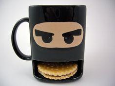 Cookie Mug Ninja van Dreamceramics op Etsy, €17.00