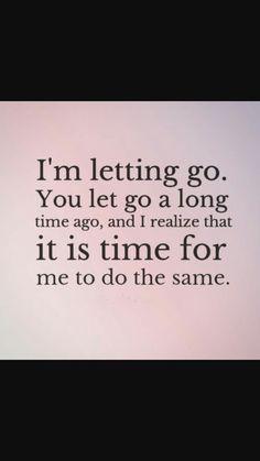 I'm letting go