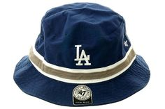 d529002ae5be1 Striped Los Angeles Dodgers Bucket Hat by 47 Brand