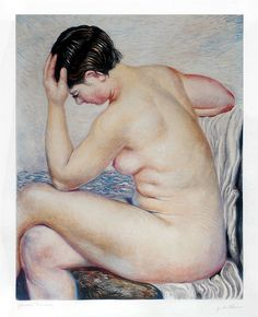 Giorgio de Chirico, Bagnante Seduta (Bather Sitting), Etching (S) Italian Painters, Italian Artist, Soul Art, Traditional Paintings, Fine Art Gallery, Western Art, Portrait Art, Portraits, Figurative Art