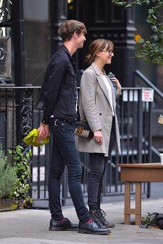 Matthew Hitt and Dakota Johnson seen in NoHo on October 9 2015 in New York City