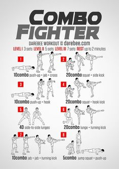 Combo Fighter Workout Master Self-Defense to Protect Yourself Boxing Training Workout, Boxer Workout, Mma Workout, Mma Training, Boxing Workout With Bag, Kick Boxing, Shadow Boxing Workout, Heavy Bag Workout, Boxing For Fitness