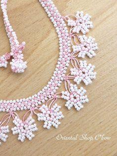 画像1: カッパドキア☆ボンジュックオヤネックレス|ゆらゆら星・ピンク