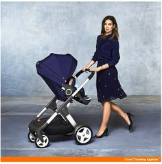 Enduring style in a luxury stroller, #Stokke Crusi in new Deep Blue. Available from May 2014 ! #StokkeChic #StokkeCrusi  www.stokke.com
