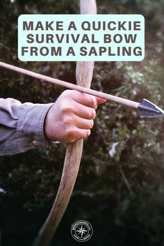 How to Make a Quickie Bow from a Sapling - Knowing how to make an alternative form of protection and or way to hunt so you can feed yourself is vital. If you only rely on guns, rifles and knives you are at a disadvantage. A bow is easy to make and free to make, once you get the hang of making and firing a bow this method of hunting works well and you have the advantage of being able to kill animals with no bang like a gun. DIY Bow | Make Your Own Survival Bow | Cheap Bow