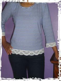 Marine 10 T Shirt, Blouse, Long Sleeve, Sleeves, Tops, Women, Fashion, Sewing, Supreme T Shirt