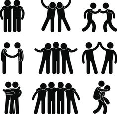 Find Friend Friendship Relationship Teammate Teamwork Society stock images in HD and millions of other royalty-free stock photos, illustrations and vectors in the Shutterstock collection. Happy Friendship Day, Friend Friendship, Symbol Hand, The Beatles Help, Friendship Symbols, Clip Art, Best Dating Apps, Stick Figures, Illustrations