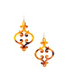 Look at this #zulilyfind! Tortoise French Scroll Drop Earrings #zulilyfinds