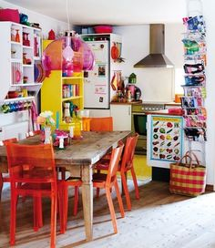 ❤ now this looks like my kind of bright and colorfull decor :)
