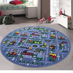 CR's Kids / Baby Room / Daycare / Classroom / Playroom Area Rug. Great For Playing With Cars City Map Car Tracks Roads Fun Educational Non-Slip Gel Back Play Mat Feet X 8 Feet Round) Car Play Mats, New Kids, Home Decor Furniture, Vibrant Colors, Colorful, Floor Rugs, Baby Room, Playroom, Baby Kids
