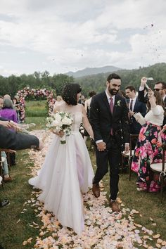 Throwing a spring wedding? Consider this your ultimate guide to spring wedding ideas and decor, from pastel colors to tons of floral details. Over The Top, Unique Weddings, Real Weddings, Wedding Portraits, Wedding Photos, Amanda, Wedding Send Off, Wedding Aisle Decorations, Wedding Centerpieces