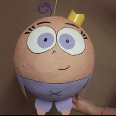 Cosmo and Wanda's baby, Poof, off of The Fairly Odd Parents! Cute pinata idea!