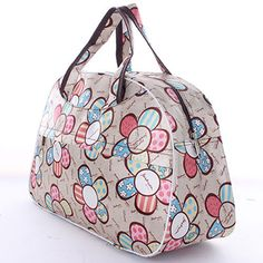 5pcs( Waterproof Oxford Women bag Sunflower Pattern Travel Bag Large Hand Canvas Luggage Bags