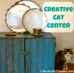 Creative Cat Center and Litter Cabinet