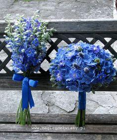 niebieski, bukiet ślubny, kraków, Magiczne Kwiaty, niebieska hortensja, ostrózka4