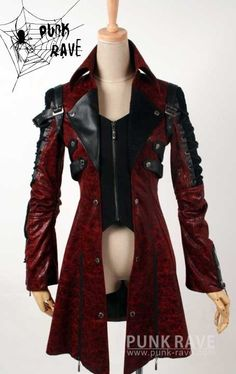 Visual Kei Steampunk Coat, Style Steampunk, Steampunk Clothing, Gothic Clothing, Gothic Steampunk, Gothic Jackets, New Rock Boots, Steampunk Accessoires, Gothic Boots