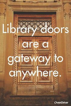 Bookstore doors, too. More