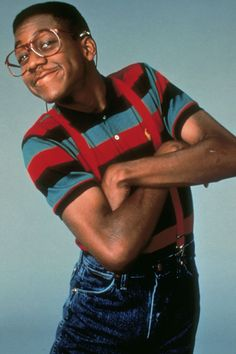 "Steve Urkel - ""Family Matters"": With his thick glasses, high-pitched voiced and strapped-in suspenders, Urkel, played by Jaleel White, is the epitome of a geek. And who can forget when Steve turned into the smoldering Stefan? For more of TV and film's greatest nerds, click through."