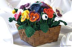 Delicadezas en crochet Gabriela: Flor pensamiento